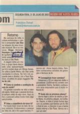 """2003 - jornal """"Diário de Santa Maria"""""""