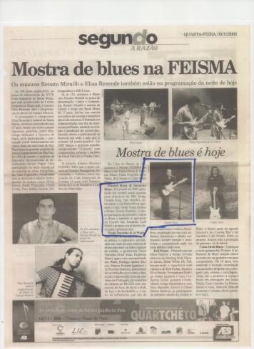 2003 - com a banda Comissário Silas