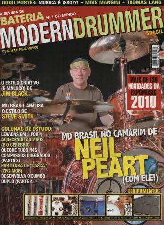 2010 - Capa da Revista Modern Drummmer (2010)