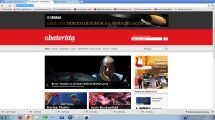 """2012 - Matéria no site """"O Baterista"""""""